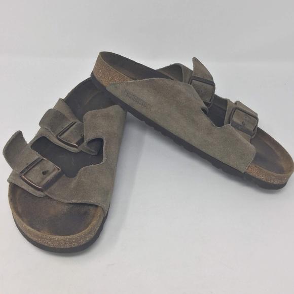 6b8f6718330c Birkenstock Shoes | Arizona Nubuck Leather Sandals 41 | Poshmark
